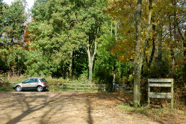 The carpark at Ufton Fields nature reserve - geograph.org.uk - 1550568