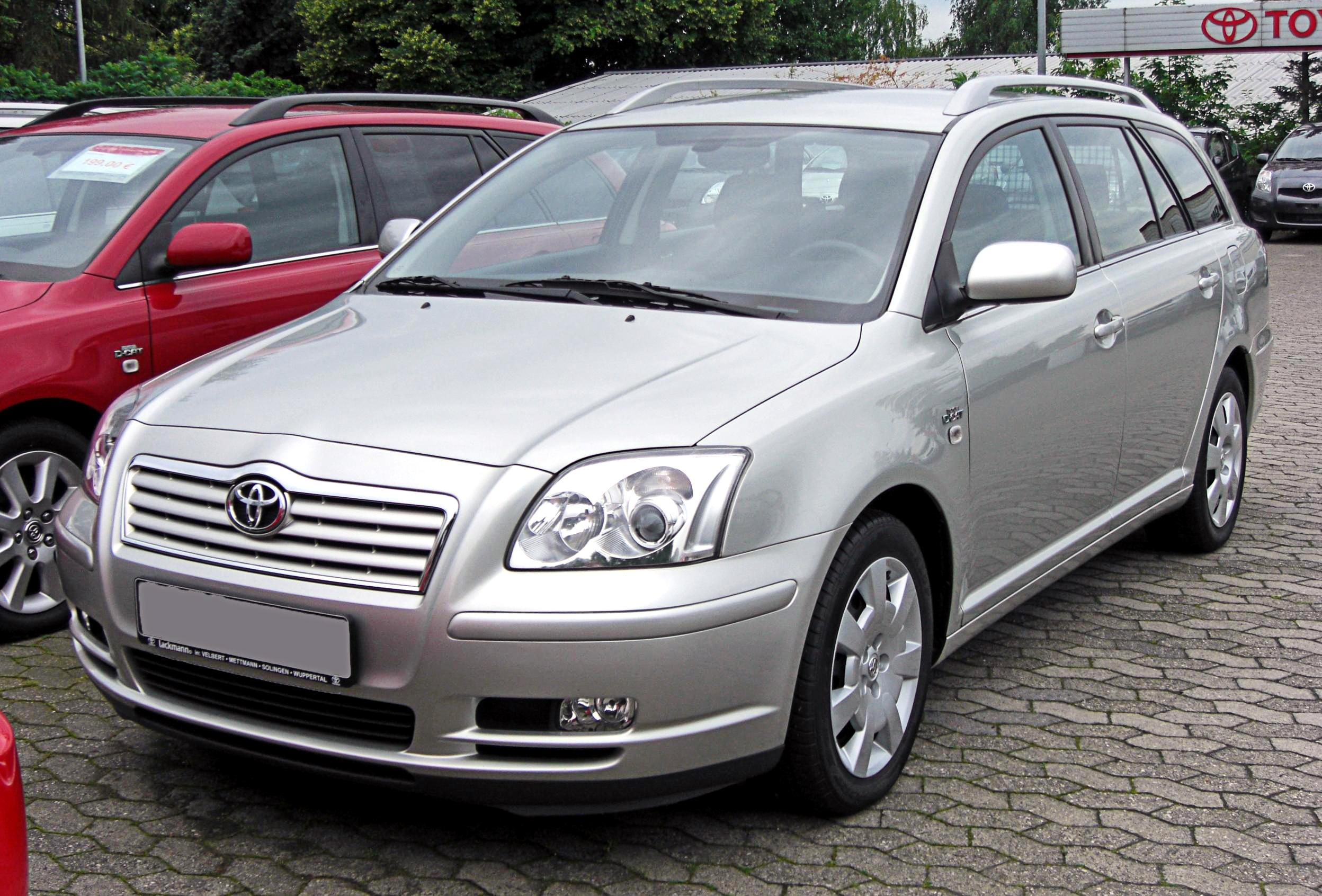file:toyota avensis combi ii 20090620 front - wikimedia commons