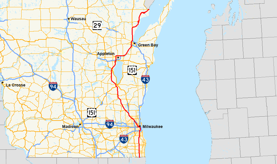US Route In Wisconsin Wikipedia - Us and wisconsin maps