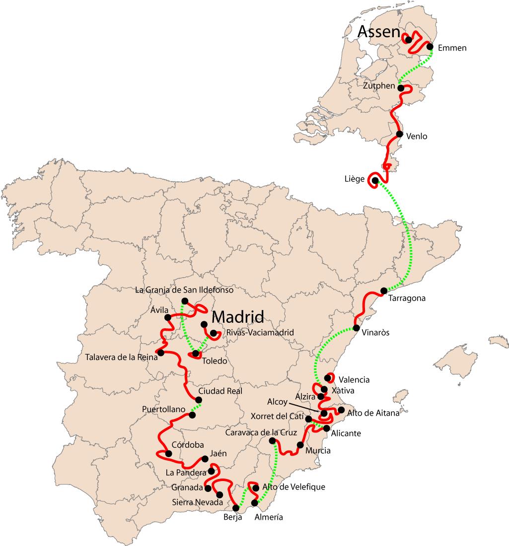 Circuito Xacobeo : Vuelta a españa wikipedia la enciclopedia libre