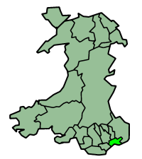 Newport shown alongside other principal areas of Wales