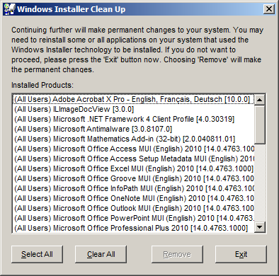 TÉLÉCHARGER WINDOWS INSTALLER CLEANUP MSICUU2 EXE