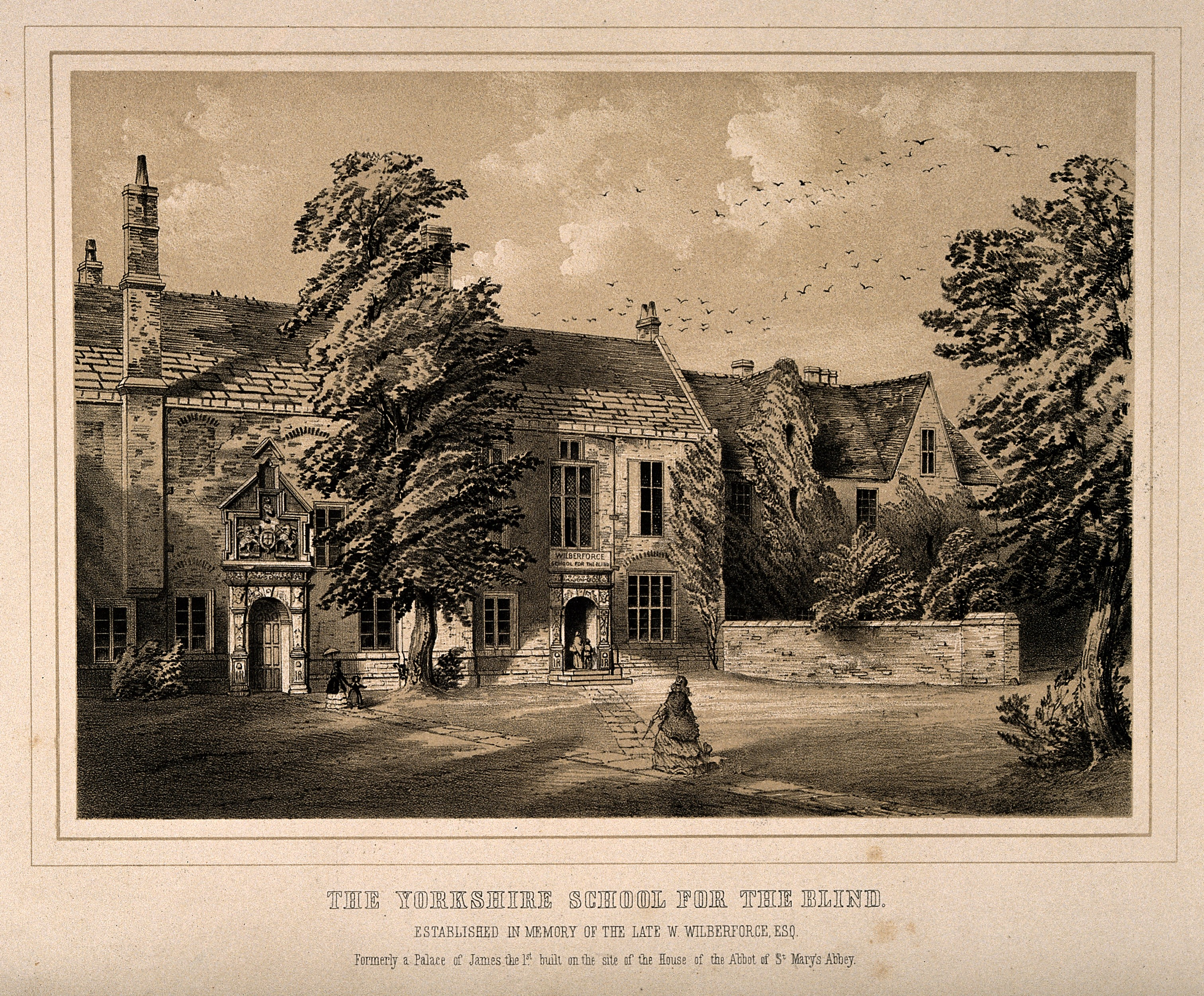 File Yorkshire School for the Blind York England Tinted lithog