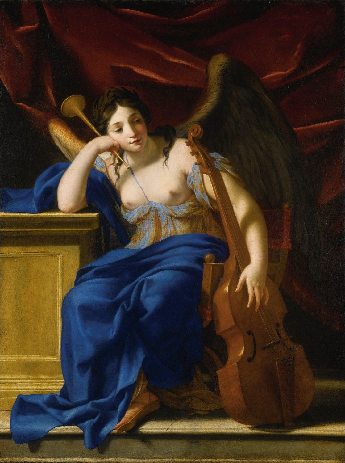 An Allegory of Poetry by Eustache Le Sueur, oil on canvas
