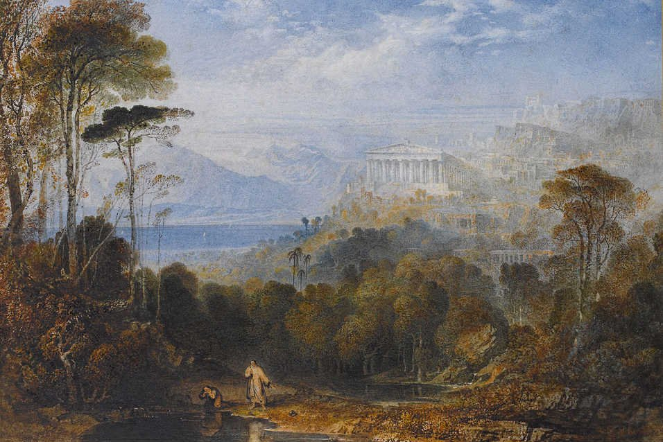 Http Commons Wikimedia Org Wiki File 27diogenes Throwing Away His Cup 27 Oil On Canvas Painting By John Martin Jpg