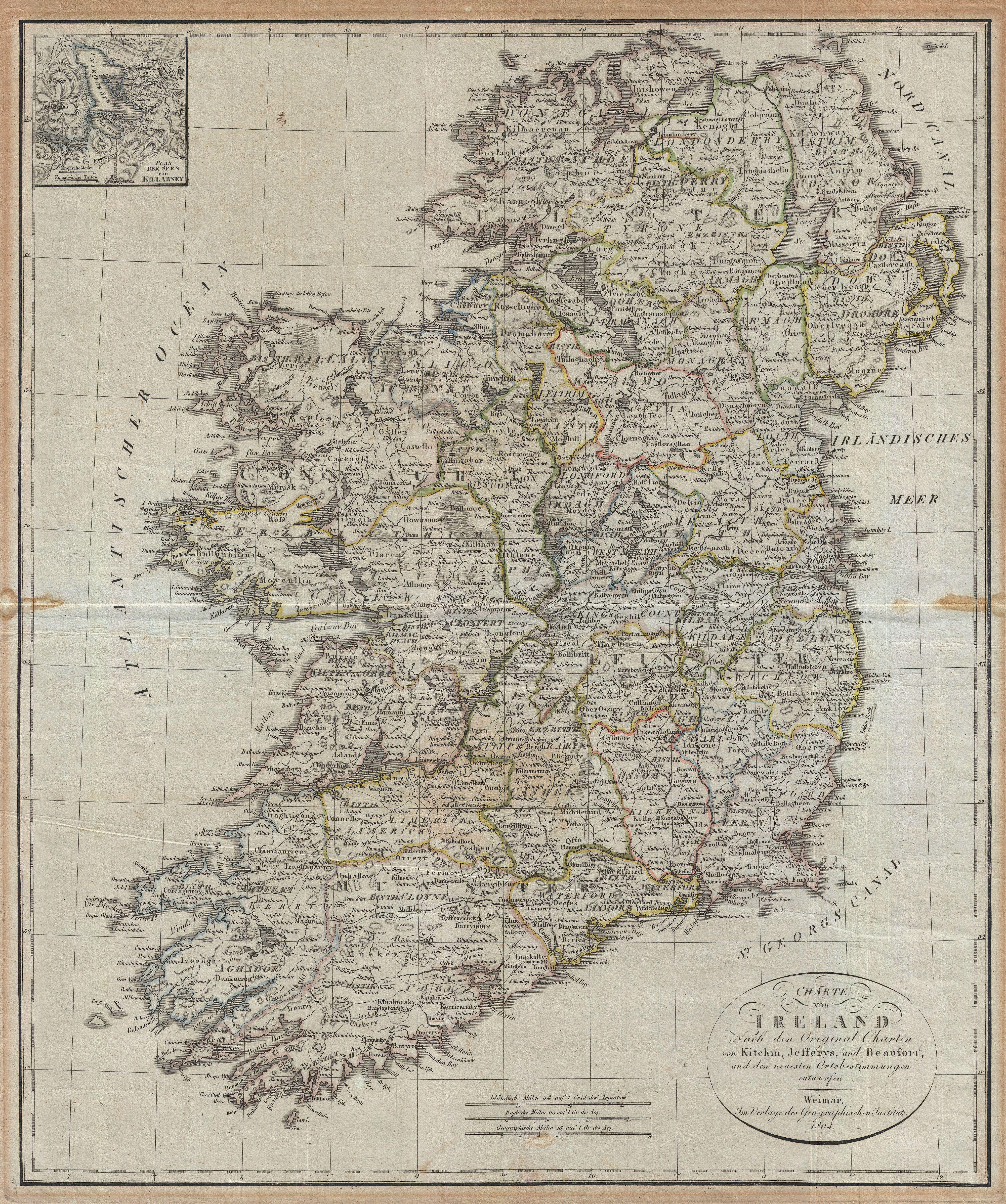File1804 Jeffreys and Kitchin Map of Ireland Geographicus