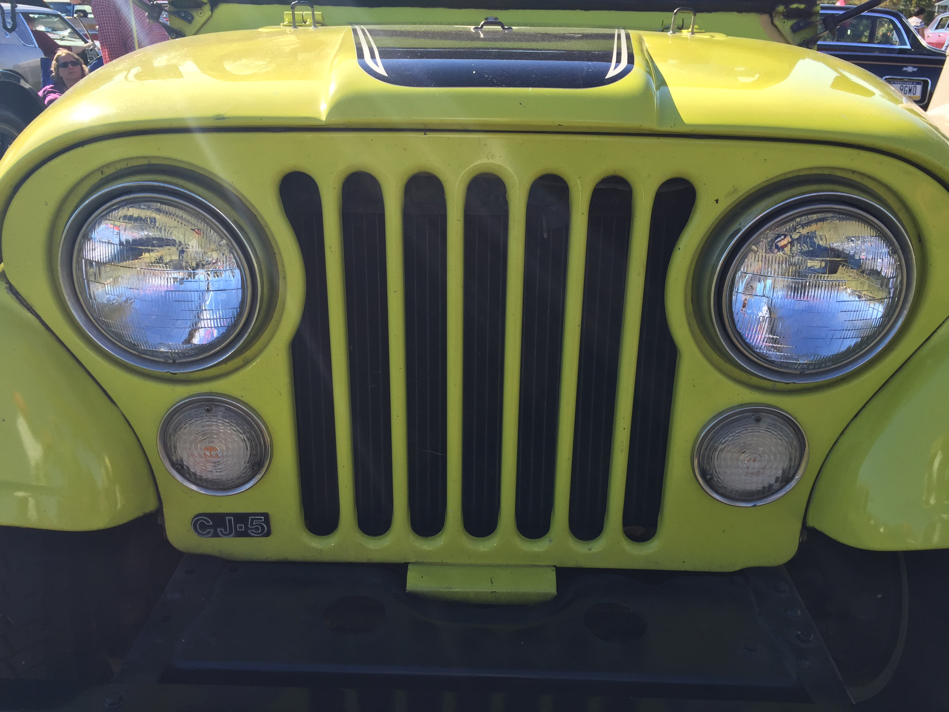 File 1974 Jeep Cj 5 Renegade V8 In Yellow All Original At 2015 Aaca Eastern Regional Fall Meet 4of7 Jpg Wikimedia Commons