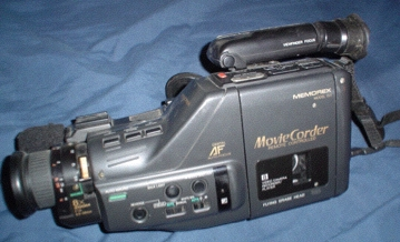 An amateur grade Video8 Camcorder from the early 1990s.