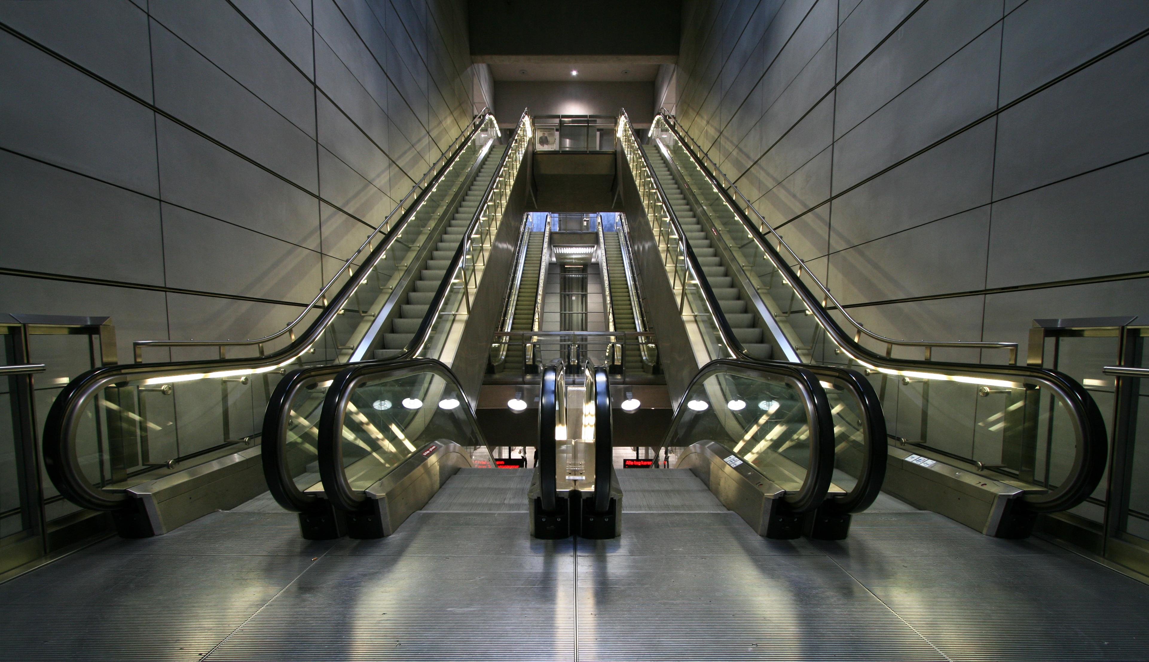 Эскалатор с подсветкой загрузить