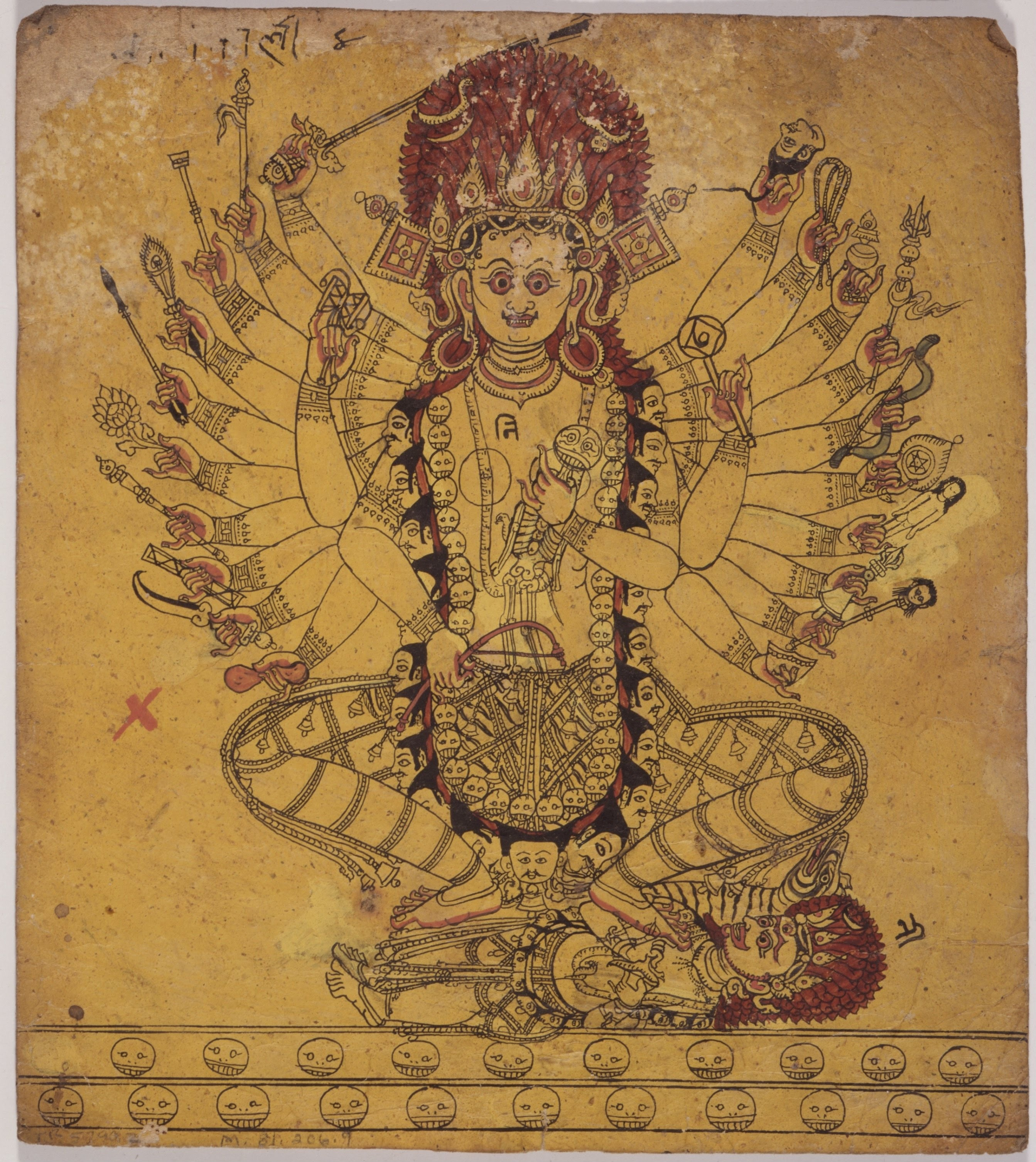 File:A Tantric Form of the Hindu Goddess Kali (Recto ...