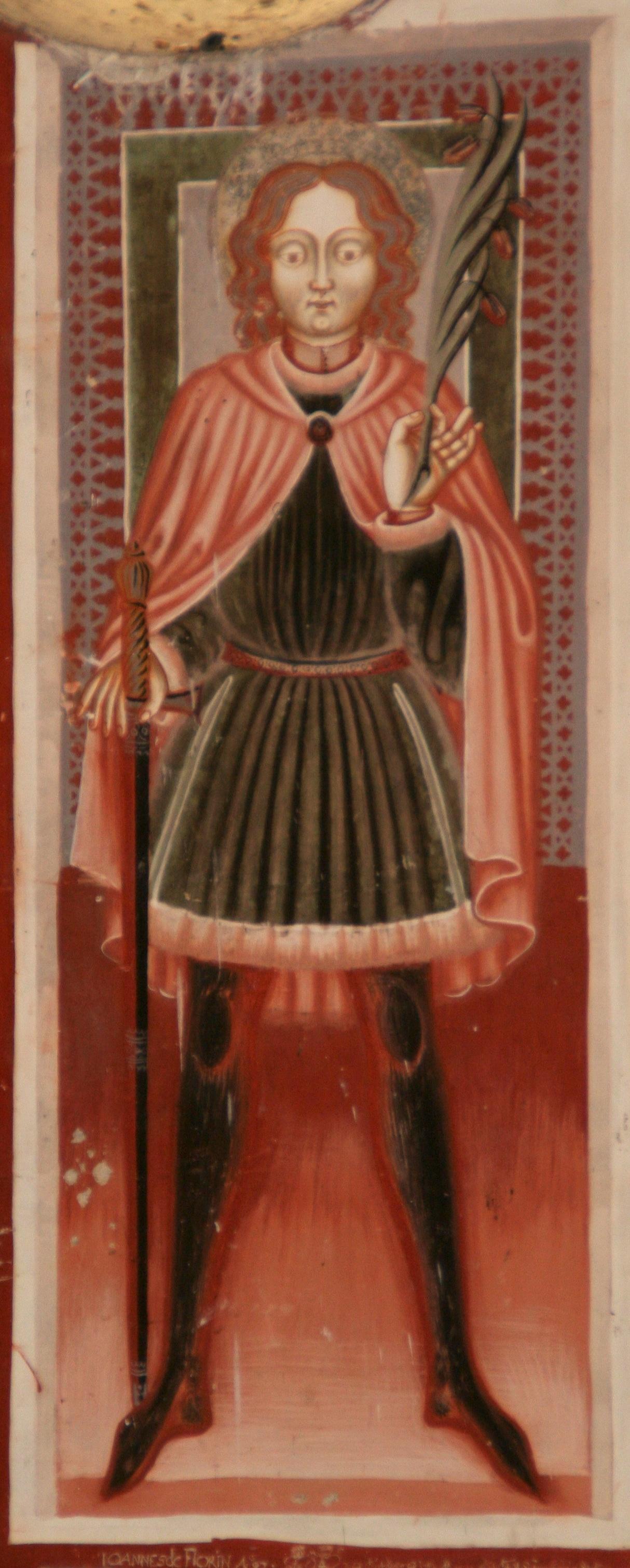 Den hellige Placidus, fra kapellet St. Agatha ved Disentis