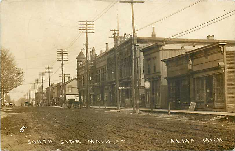 Alma (MI) United States  city images : Alma MI South side Superior St 1913 Wikimedia Commons