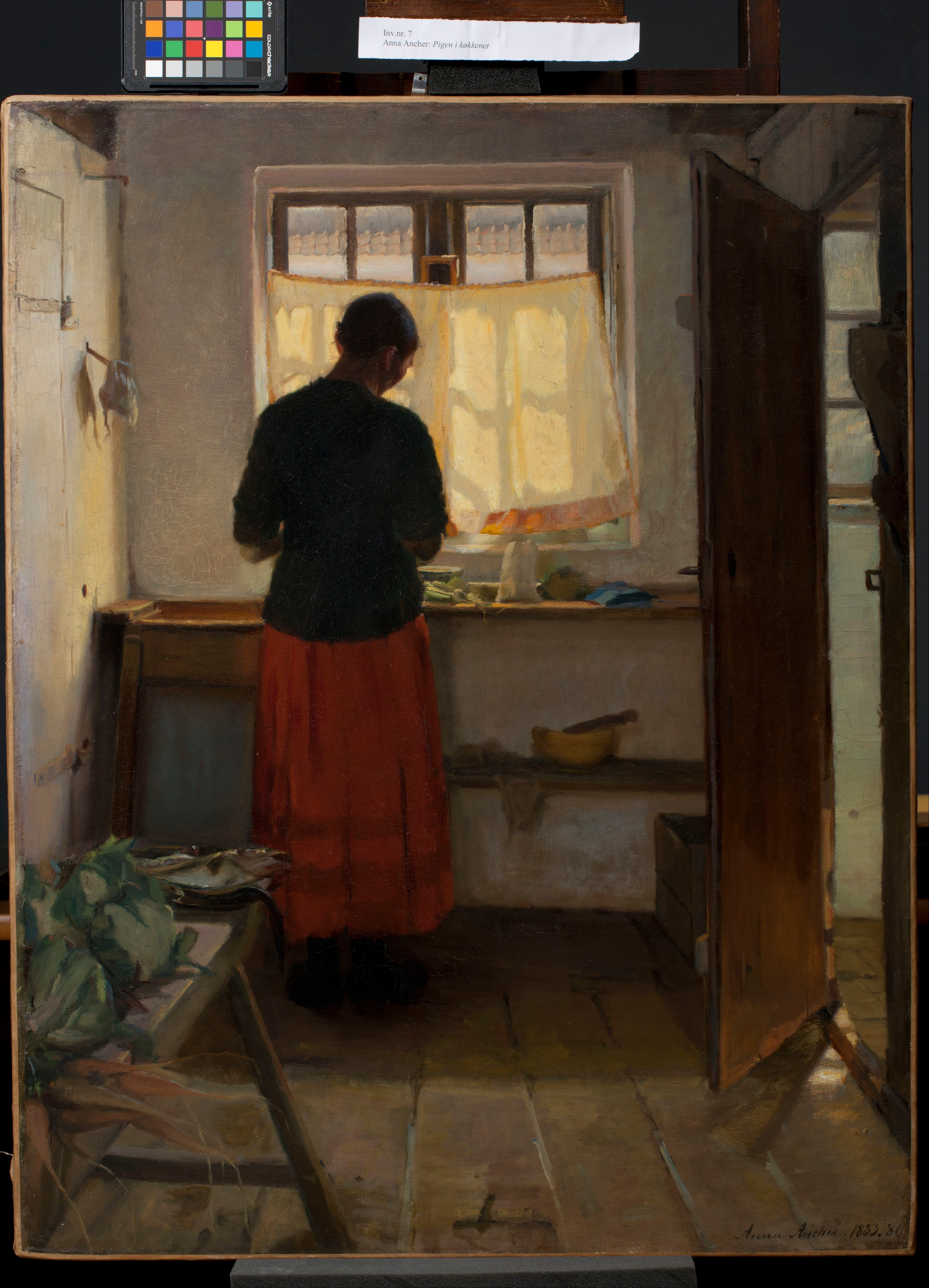 File:Anna Ancher   The Maid In The Kitchen   Google Art Project