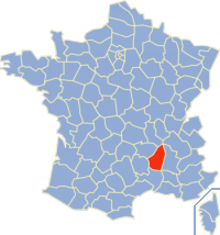 阿尔代什省在法国的位置