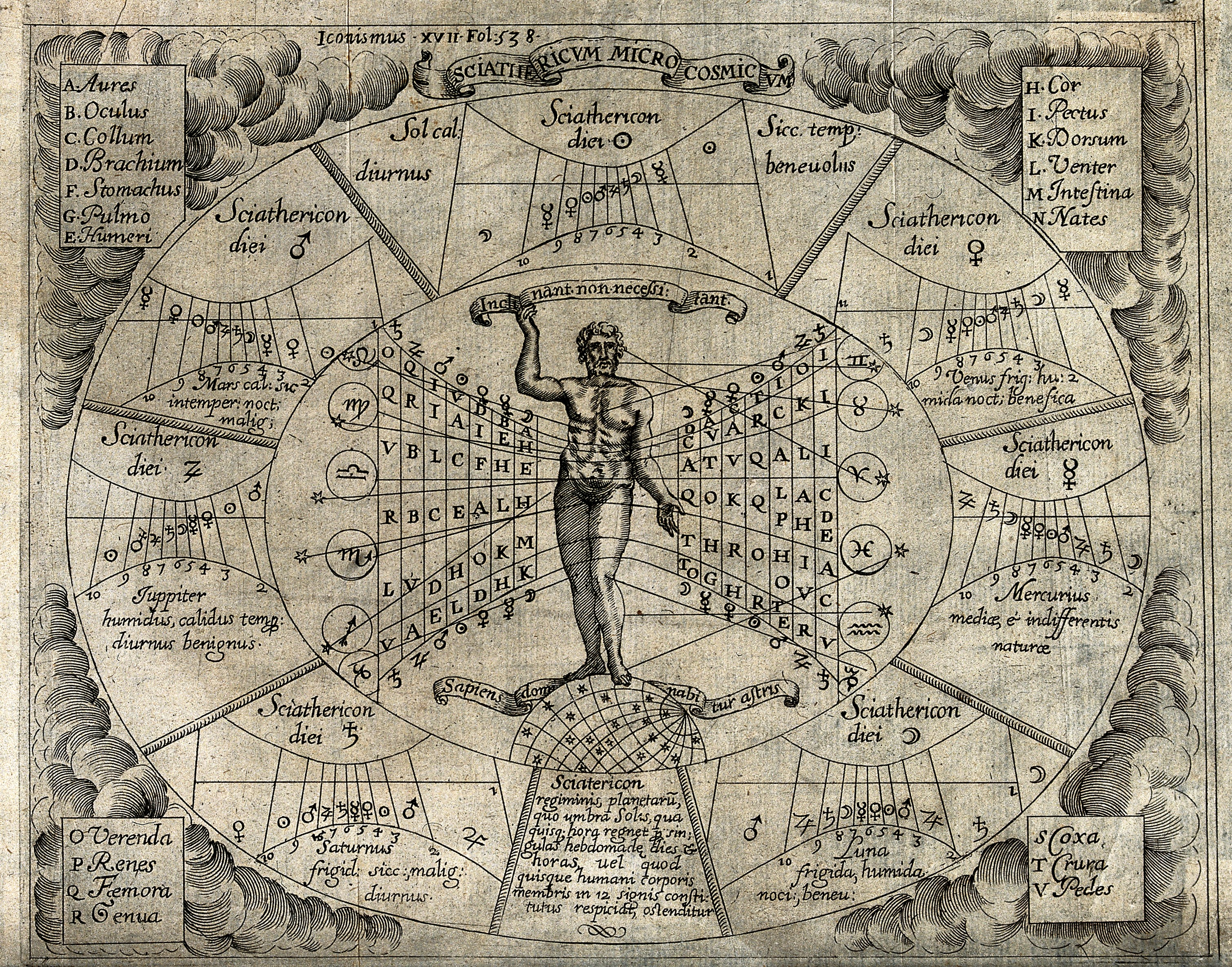 Read My Astrological Chart: Astronomy; a chart for devising a horoscope. Engraving by P ,Chart