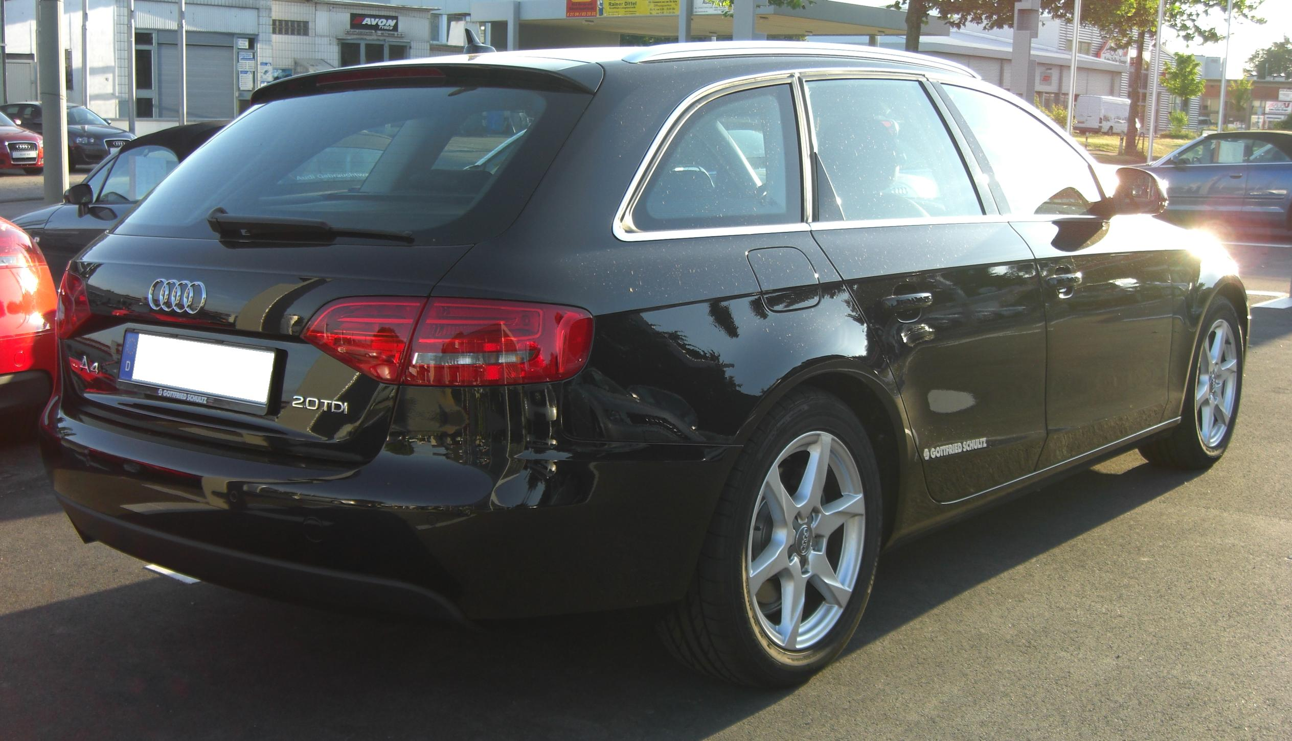 File Audi A4 B8 Avant Rear Jpg Wikimedia Commons