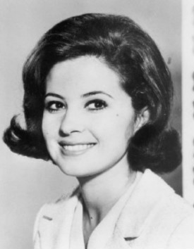 Parkins in a promotional photo for Peyton Place