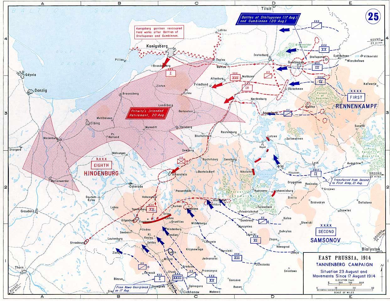 Battle of Tannenberg: 26-30 August 1914