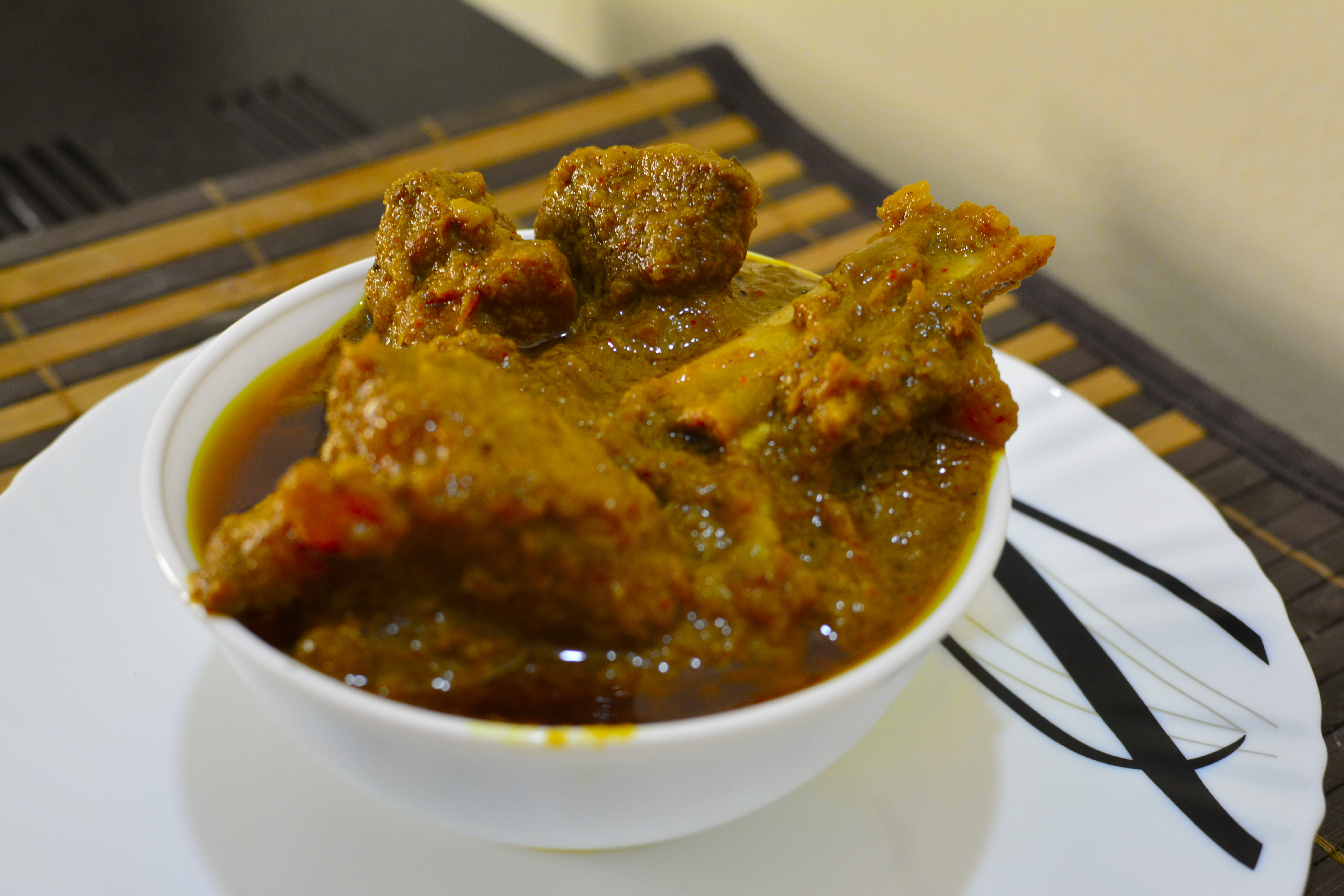 Mutton curry dish
