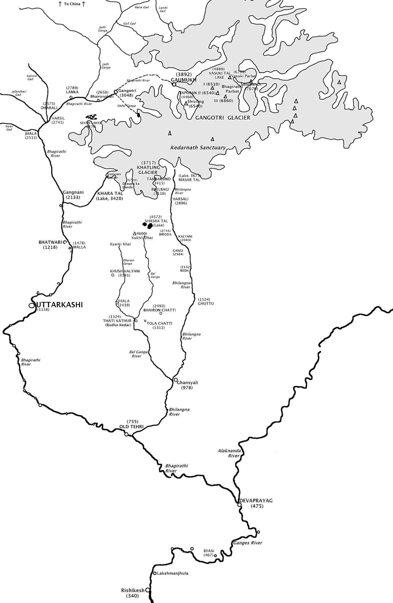 FileBhagirathi river mapJPG  Wikimedia Commons
