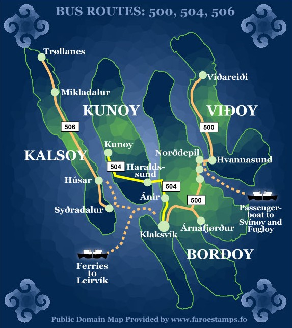 Pictures Of The Faroe Islands Map