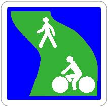 Signalétique de voie verte française
