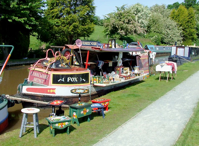 Canalware sales boat at Audlem, Cheshire - geograph.org.uk - 1601587