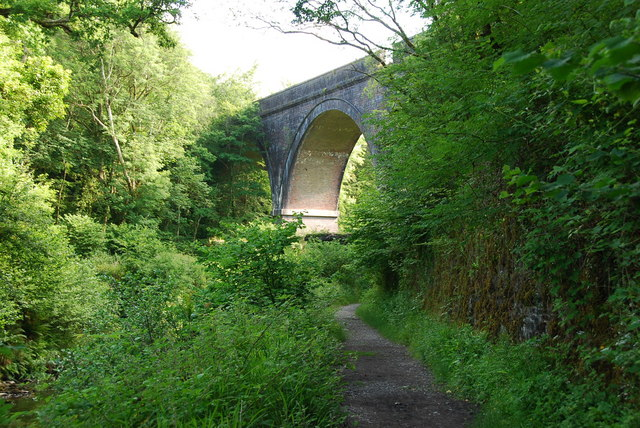 Cann Quarry Viaduct No1 - geograph.org.uk - 1367374