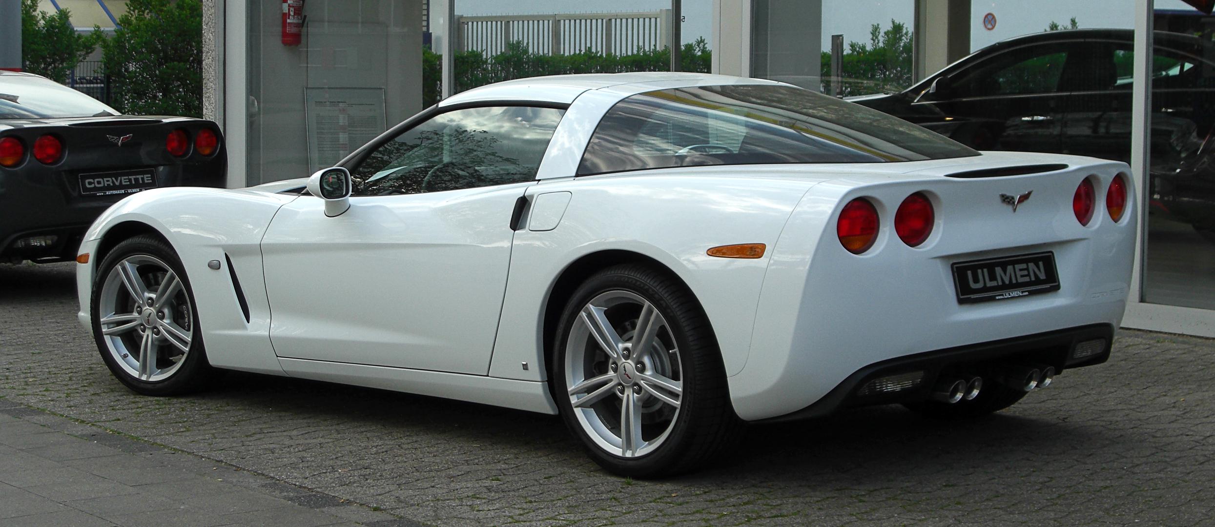 2005-2013 Corvette C6 Left Hand Fender Accent Stripes Red