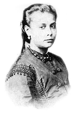 La joven Chiquinha Gonzaga a los 18 años de edad.