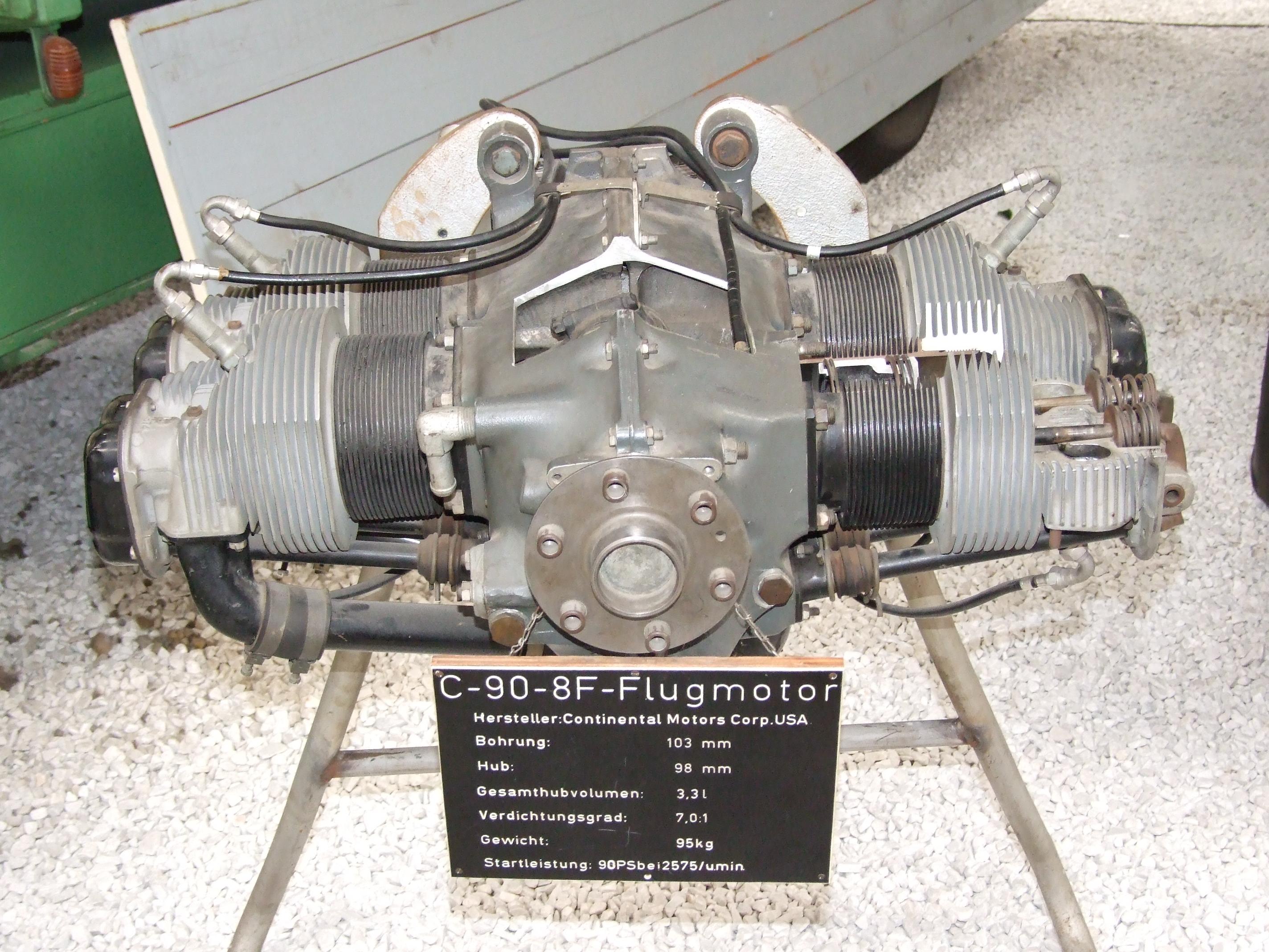 File Continental Motors C 90 8f Aircraft Engine Jpg
