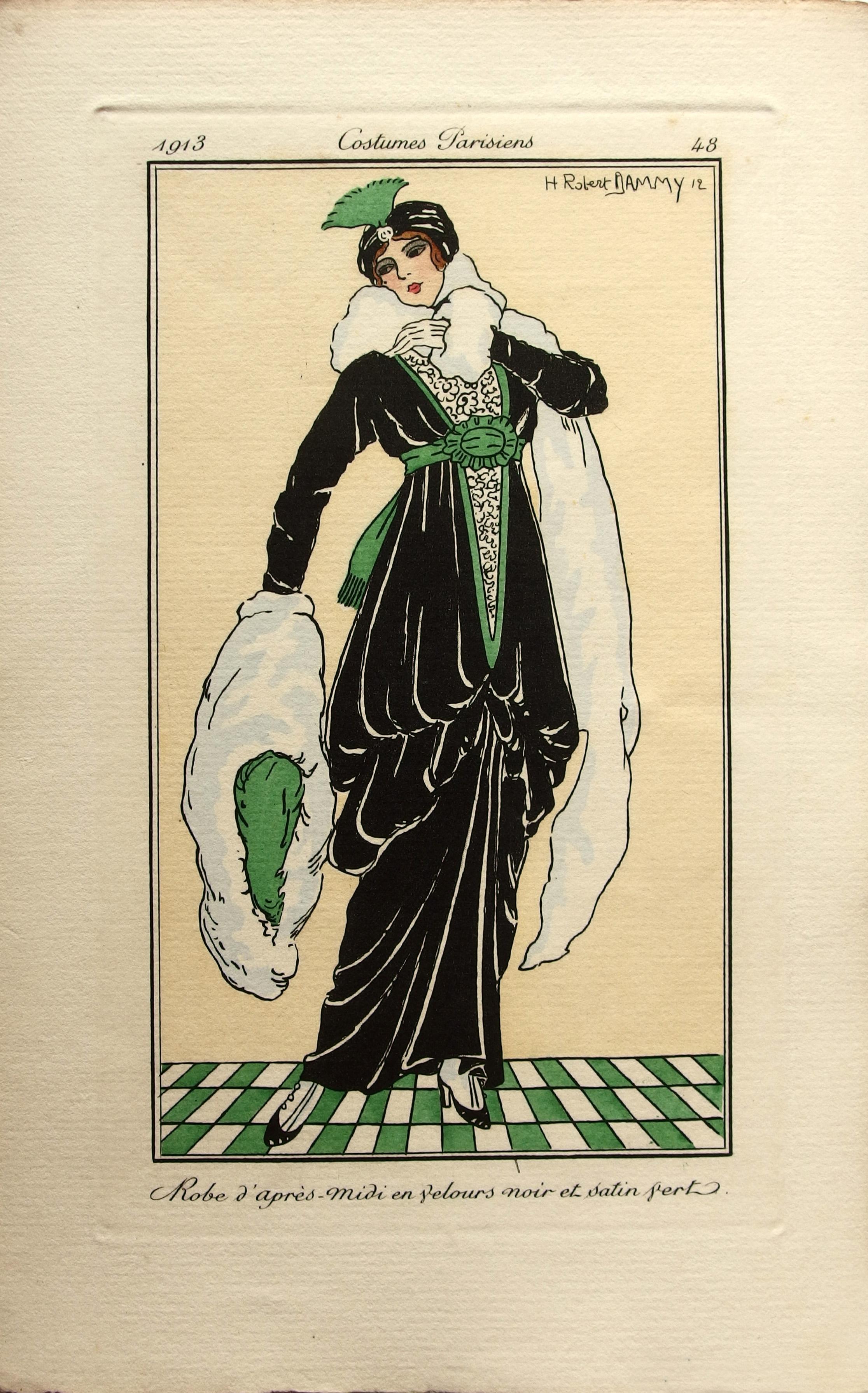 Fashion Vintage Paris Card