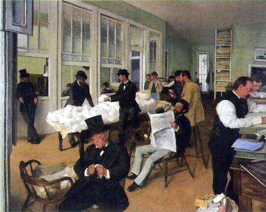 Edgar Degas, New Orleans Cotton Exchange, 1873