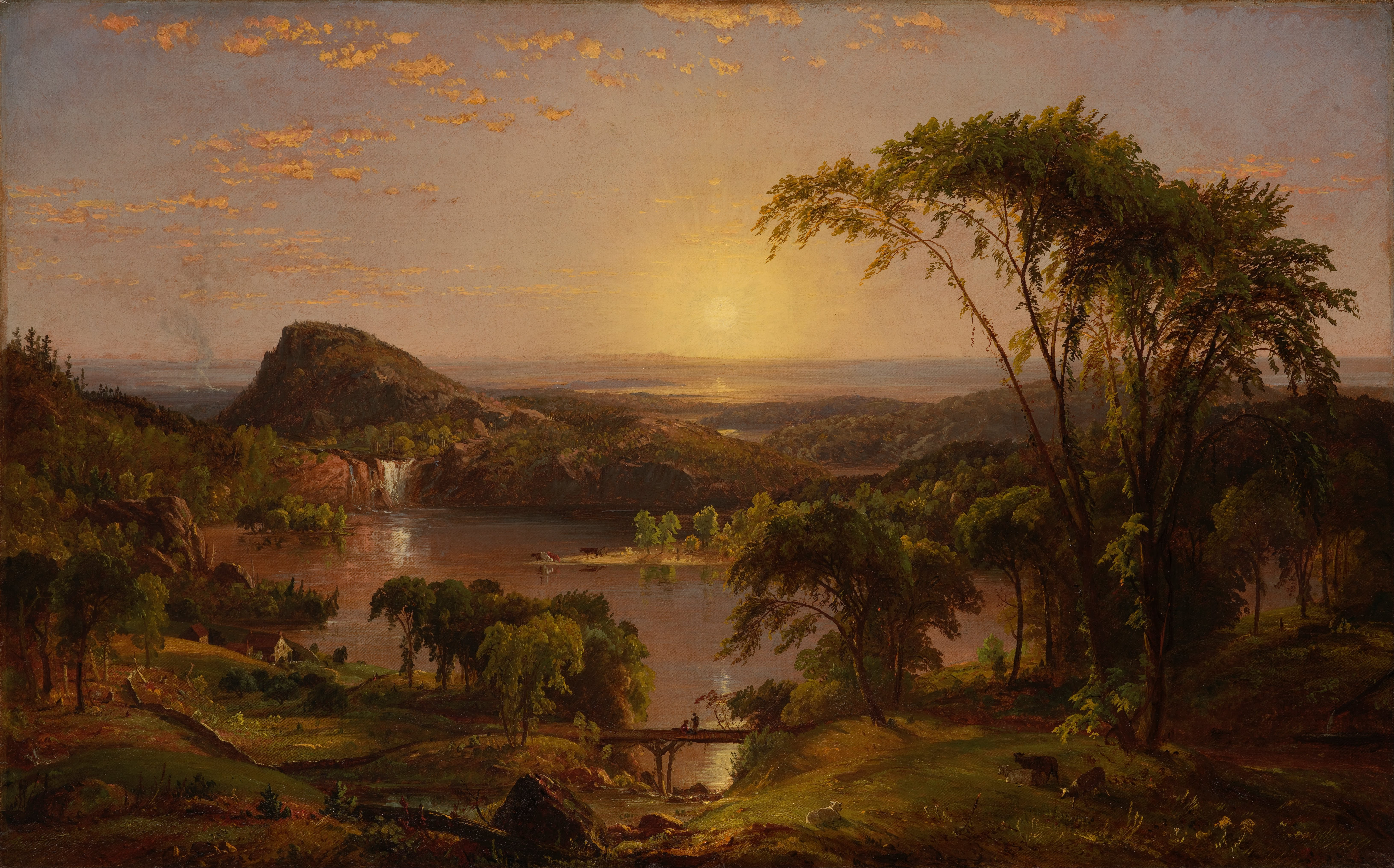 jasper f cropsey s american harvesting Jasper francis cropsey grew up on staten island, where he sketched landscapes from the window of his family's farmhouse he apprenticed to a new york architect and in the early 1840s established his own office (foshay and finney, jasper f cropsey, artist and architect, 1987)he completed several commissions but after a few years abandoned architecture in favor of landscape painting.