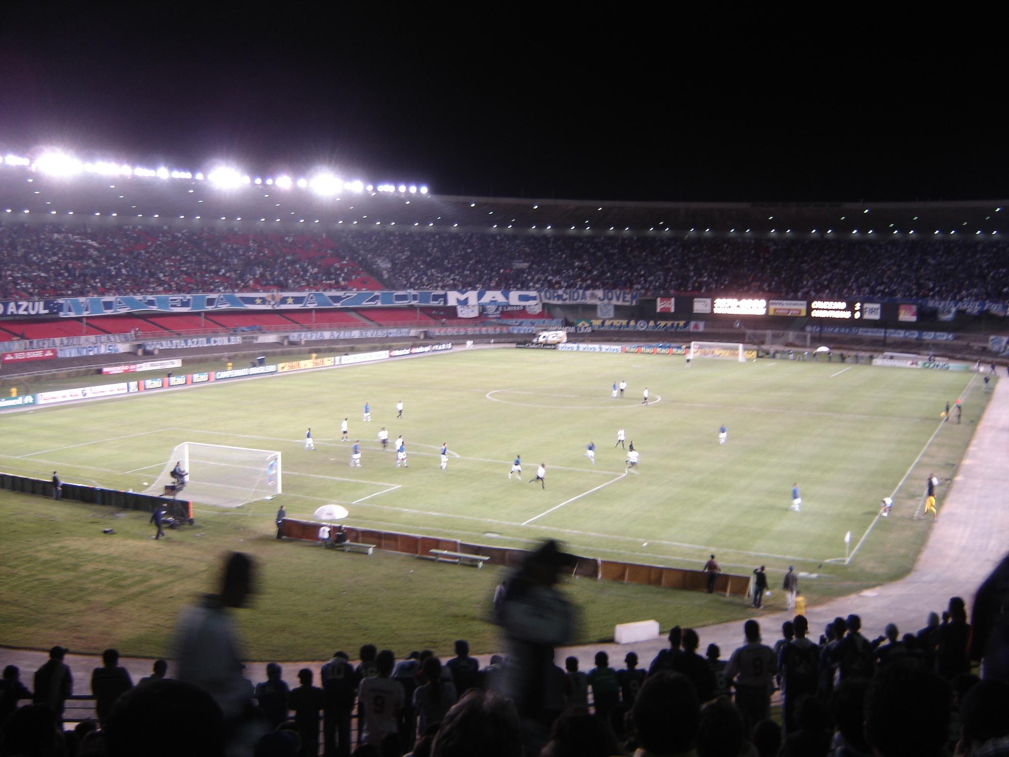 Partida entre Cruzeiro e Corinthians no Mineirão (principal estádio de  Minas Gerais) 04cf5c2faaae2