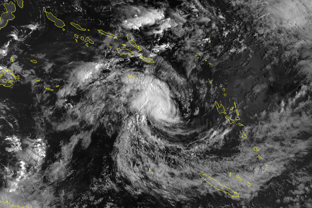 Cyclone In The Solomon Islands