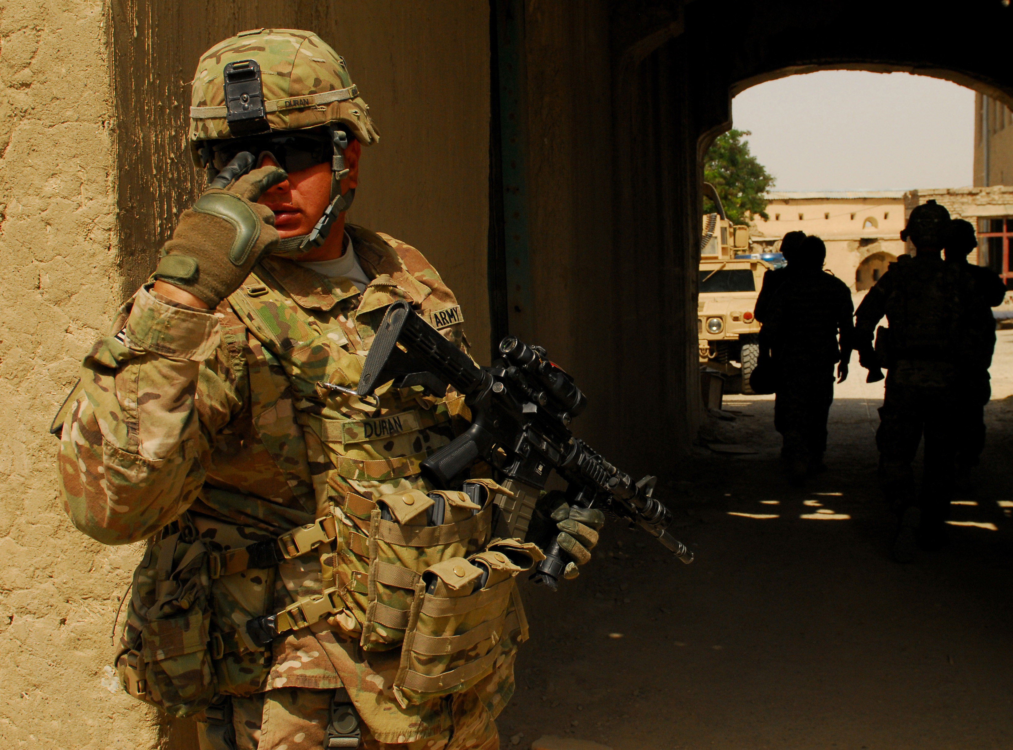 Army Staff Sgt. Edward Duran with Operations Company Headquarters ...