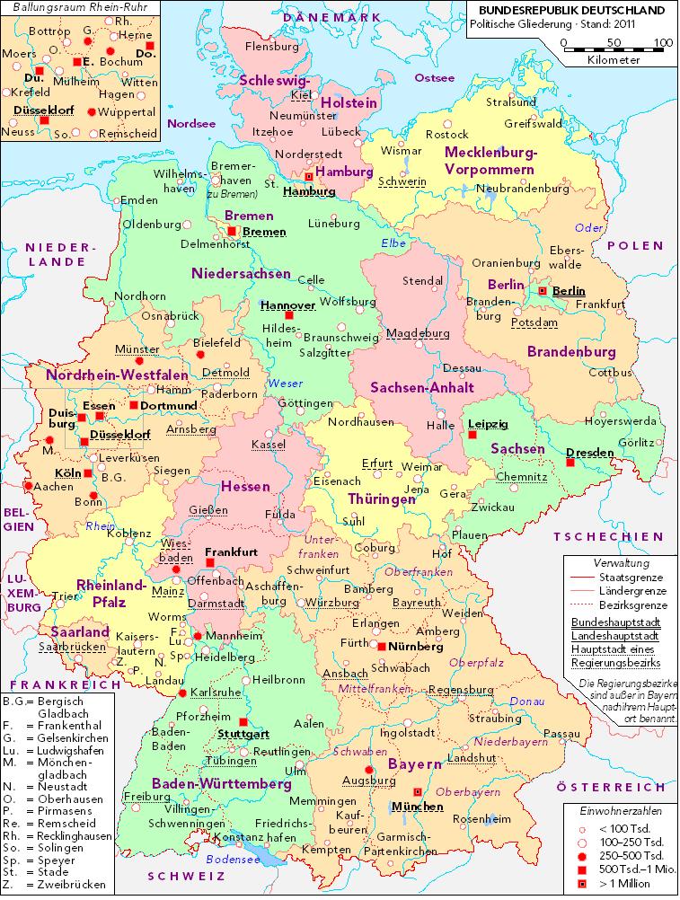 Deutschland politisch bunt
