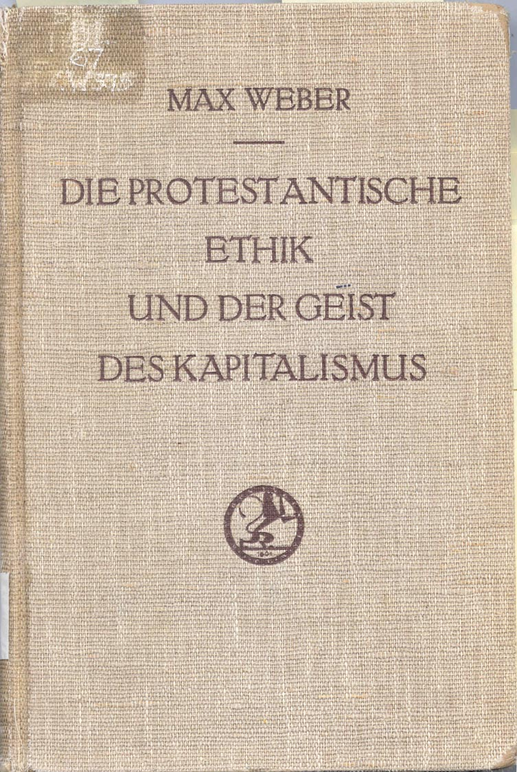 the protestant ethic and the spirit of capitalism