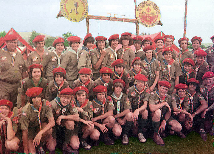Dutchess contingent at the 1977 national Scout jamboree, held at Moraine State Park, Pennsylvania