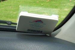 RFID-метка, используемая для автоматического сбора платы за проезд по платным дорогам (electronic toll collection)