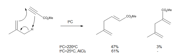 Figure 8. Improvements brought to the ene reaction by Lewis acid catalysis.