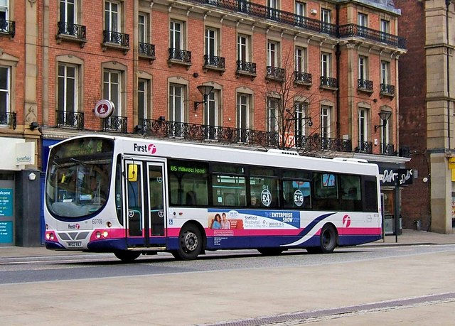 File first south yorkshire volvo single deck bus no 60709 for Timetable 85 sheffield