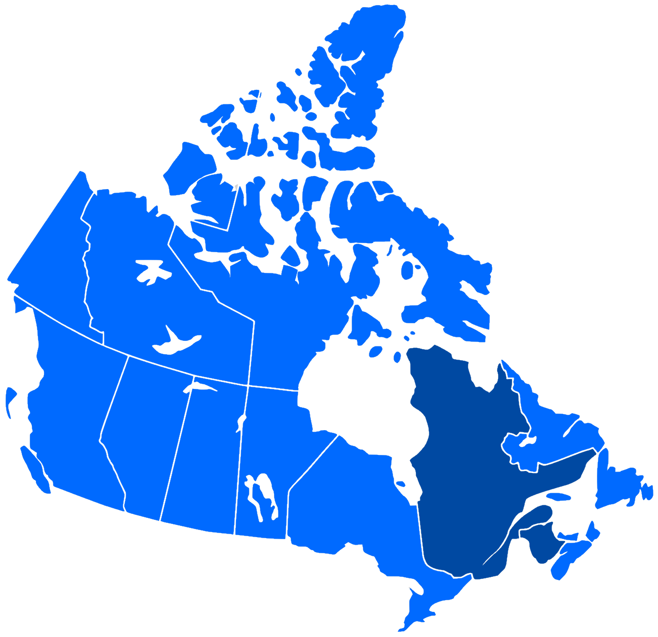Canada And French Language Map French language in Canada   Wikipedia