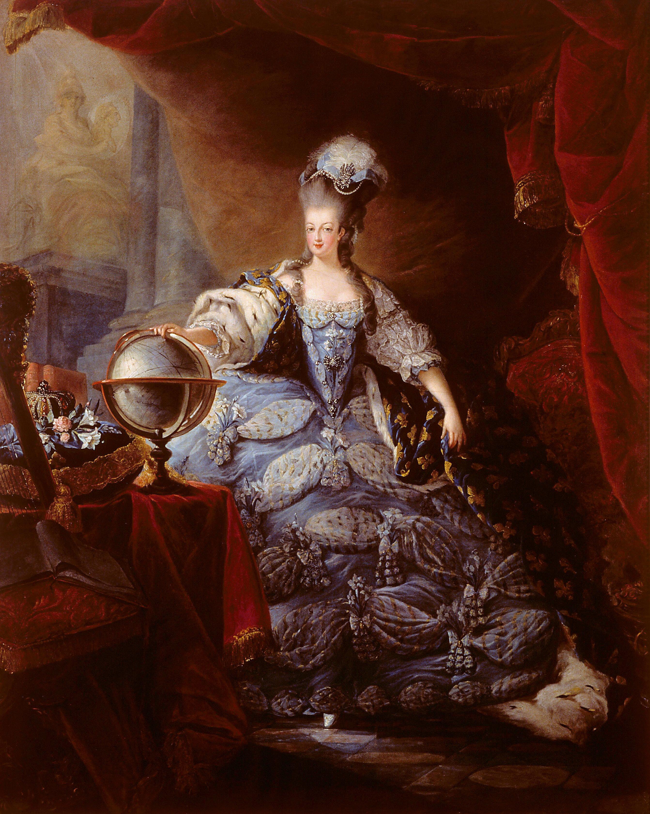 File:Gautier Dagoty_ _Marie Antoinette,_1775 on Italian Rococo Style Painting