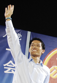 Gerald Giam at a Workers' Party general election rally, Bedok Stadium, Singapore - 20110430-04.jpg