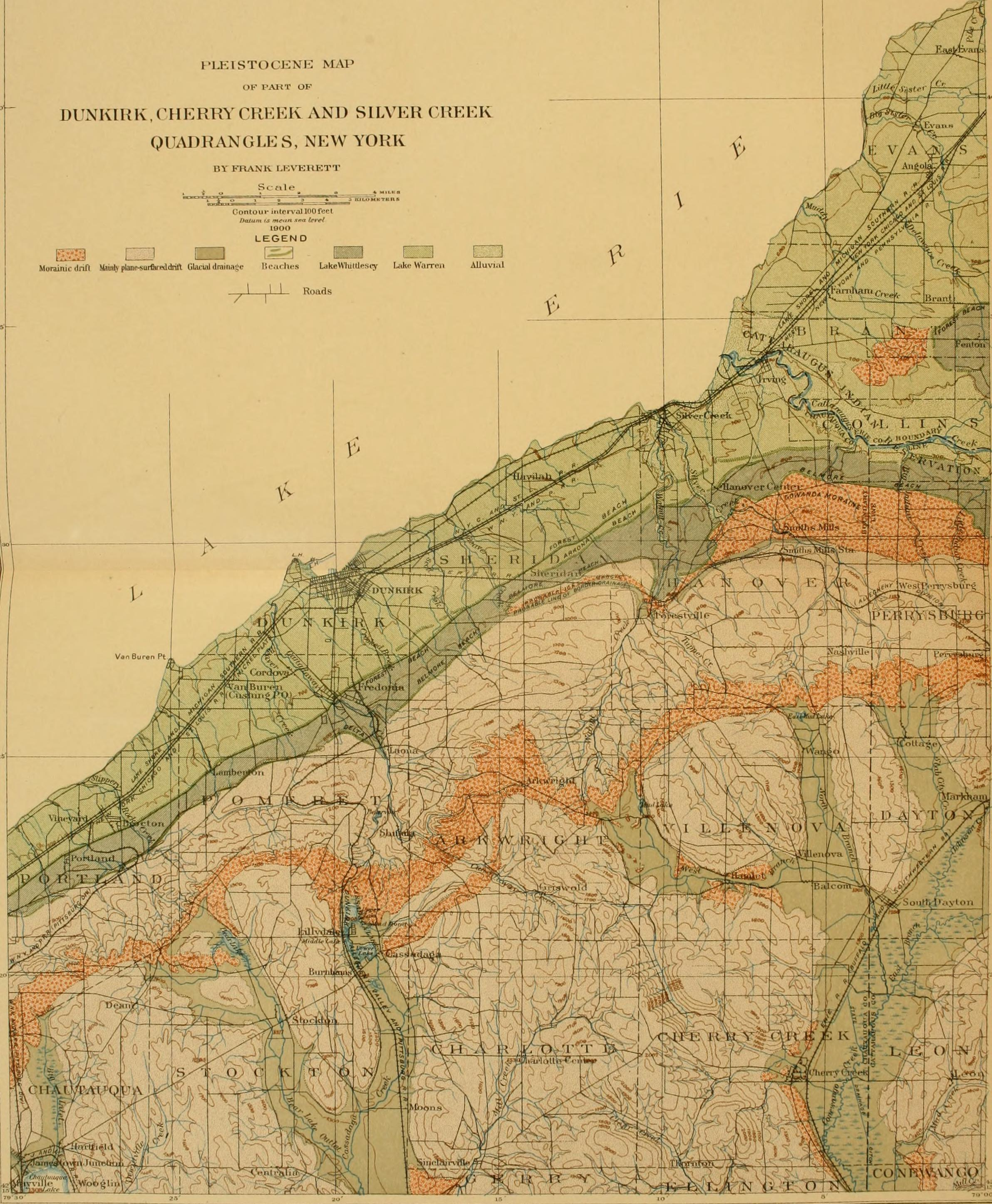 File Glacial Formations And Drainage Features Of The Erie And Ohio