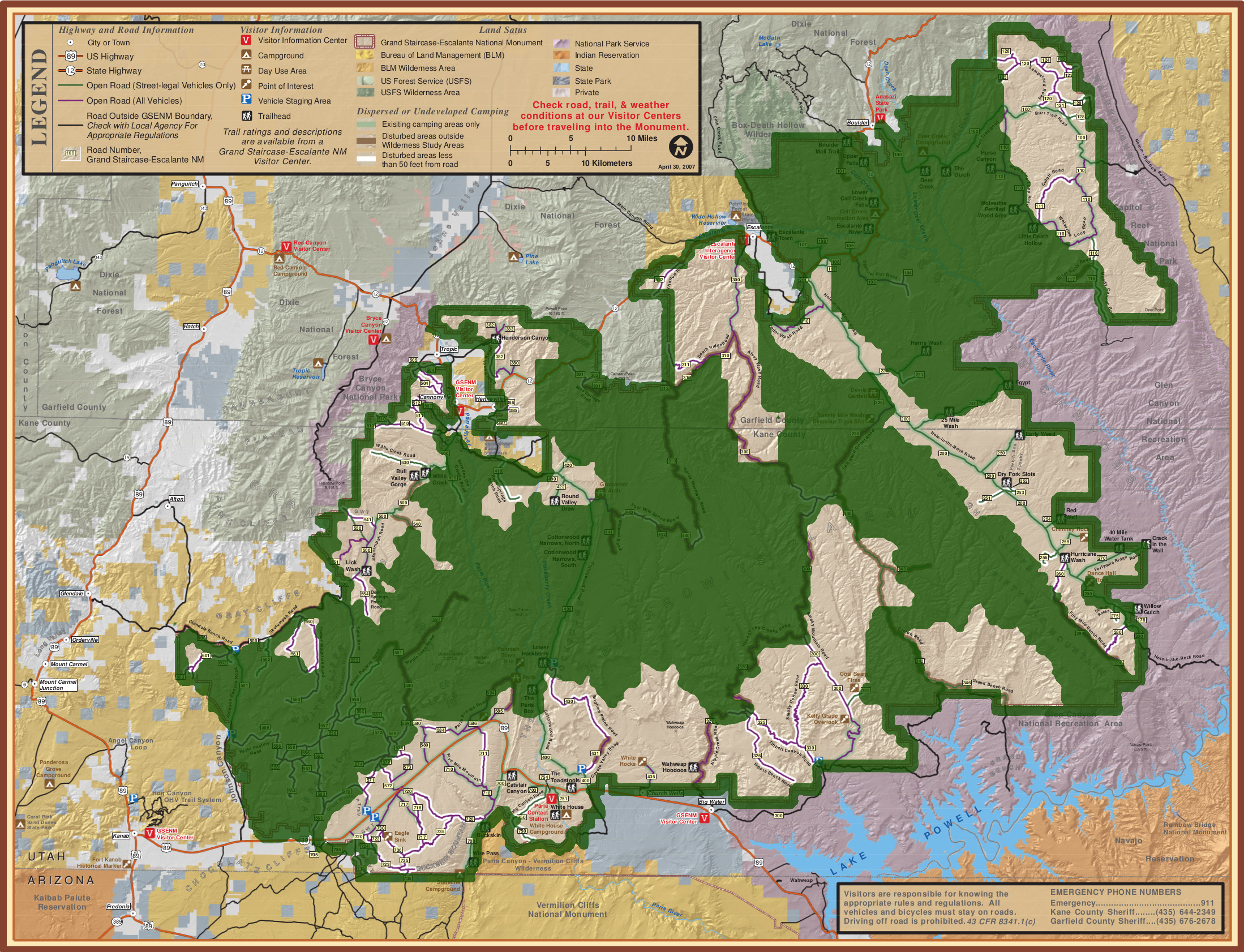 Grand Staircase Escalante Map File:Grand Staircase Escalante National Monument map overlay.png  Grand Staircase Escalante Map