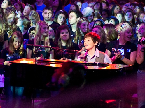 "English: Greyson Chance performing ""Fire&..."