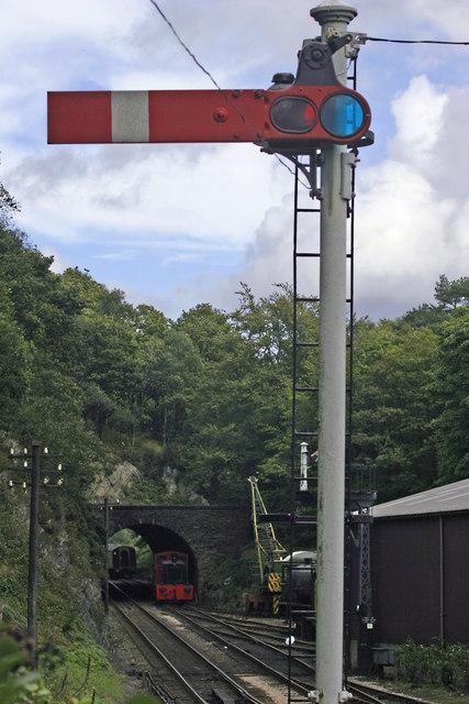File haverthwaite steam railway old signal geograph
